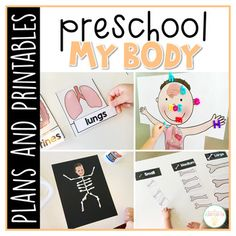 Preschool Curriculum Made Easy This Preschool: My Body Resource Has Everything You Need For A Week Packed Full Of Human Body Themed Learning And Fun. My Preschool Weekly Plans Are Designed With The Year Old Child In Mind. Preschool Body Theme, Body Parts Preschool, Preschool At Home, Preschool Curriculum, Preschool Printables, Preschool Lessons, Preschool Classroom, Preschool Learning, Preschool Crafts