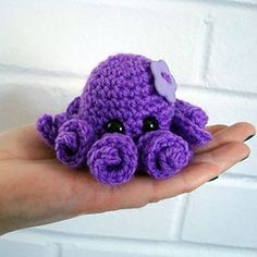 easy crochet mini octopus | crochet patterns for beginners, see more at https://diyprojects.com/17-amazing-crochet-patterns-for-beginners
