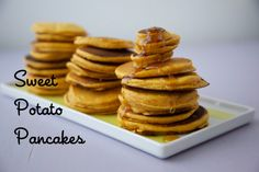 Sweet Potato Pancakes - perfect kid-friendly breakfast! #recipe