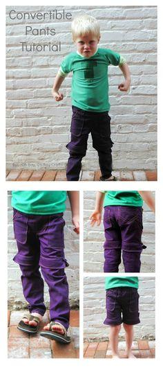 Convertible pants tutorial.
