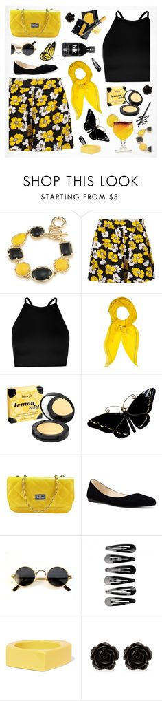 """""""Untitled #2342"""" by countrycousin ❤ liked on Polyvore featuring 1st & Gorgeous by Carolee, Boohoo, Hermès, Benefit, TIKI, Nine West, Marni, Erica Lyons and Nanacoco"""