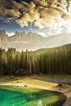 Lake Carezza - Dolomites in South Tyrol, Italy. #mountains #nature #zen #Karersee