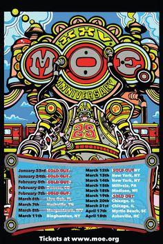 moe. tour 2015 25th Anni