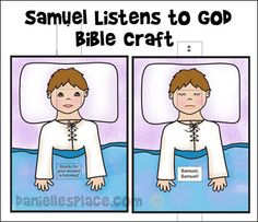 Samuel says quot speak for your servant is listening quot craft for children
