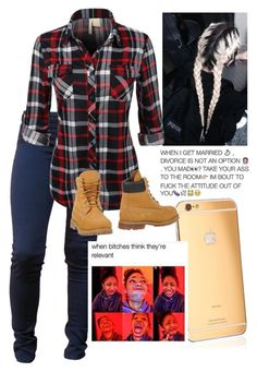 """""""Relevant """" by kimah101 ❤ liked on Polyvore featuring Wildfox, Goldgenie and Timberland"""