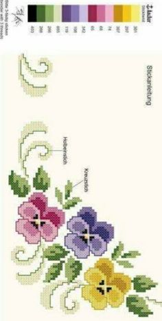 Silk Ribbon Embroidery, Hand Embroidery Patterns, Cross Stitch Embroidery, Cross Stitch Rose, Cross Stitch Flowers, Cross Stitch Designs, Cross Stitch Patterns, Art N Craft, Sewing Art