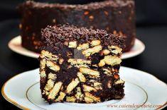 tort de biscuiti cu ciocolata Sweet Memories, Macaroons, Biscuit, Deserts, Good Food, Sweets, Sugar, Candy, Snacks