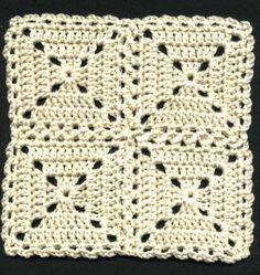 Transcendent Crochet a Solid Granny Square Ideas. Inconceivable Crochet a Solid Granny Square Ideas. Joining Crochet Squares, Motifs Granny Square, Crochet Square Patterns, Crochet Blocks, Crochet Granny, Crochet Motif, Crochet Stitches, Knit Crochet, Crochet Edgings