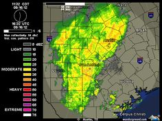 12 noon, 9/16/2012      Current Austin-San Antonio NEXRAD Radar Map | Weather Underground