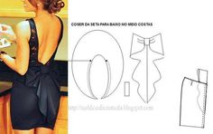 Idea -add bow to the back of a skirt Sewing Paterns, Dress Sewing Patterns, Clothing Patterns, Diy Sewing Projects, Sewing Hacks, Sewing Tutorials, Fashion Sewing, Diy Fashion, Ideias Fashion