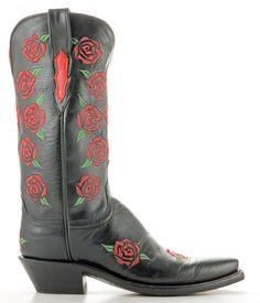 Womens Lucchese Buffalo Boots Black #N8265