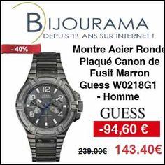 #missbonreduction; Réduction de 94,60 € sur la Montre Acier Ronde Plaqué Canon de Fusit Marron Guess W0218G1 - Homme chez Bijourama.http://www.miss-bon-reduction.fr//details-bon-reduction-Bijourama-i851979-c1831666.html