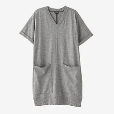 STEVEN ALAN cuffed v neck dress. Simple dress to use everyday.casual type