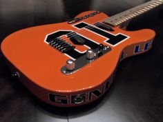 Wild custom built Dukes of Hazzard Charger Tele