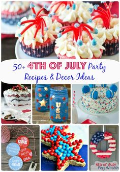 50+ 4th of July Party Recipes & Decor Ideas via MyLifeAsRobinsWife.com