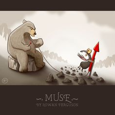 Rowan Ferguson is an interaction designer and maker of industrial style projects. Cartoon Bear, Letting Go Of Him, Comic Styles, Mole, Rowan, 2d, Sketches, Illustrations, Comics