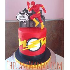 The Flash Birthday Cake Ideas - how to decorate the flash cake ...