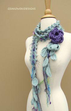 Queen Ann Rose Lariat-Hyacinth por gsakowskidesigns en Etsy