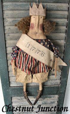 Miss Libby epattern...primitive americana usa doll pattern by chestnutjunction, $3.99