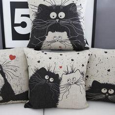 Cartoon Cat Lovers Cushions – MeowIsNow.com