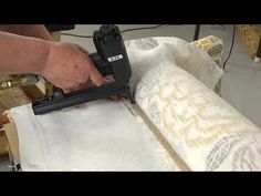 How to Use the Cardboard Tack Strip for Upholstery - YouTube