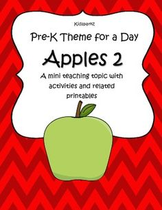 Pre-k Theme for a Day is a series of mini teaching topics that are focused towards preschool and Pre-K learners. Activities and related printables instantly ready to use. 21 pages Playgroup Activities, Apple Activities, Kindergarten Activities, Educational Activities, Common Core Preschool, Preschool Lessons, Daycare Lesson Plans, Child Development Activities, Apple Unit