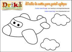 Patchwork Moldes avião para patch aplique | Drika Artesanato - O seu Blog de Artesanato.