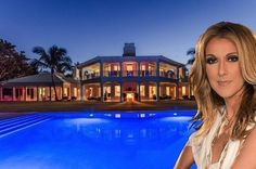 Celine Dion Lists Utterly Insane Florida Spread For $72.5M - Celebrity Real Estate - Curbed National...Songstress Celine Dion has listed her 5.7-acre custom-built spread on Jupiter Island, Fla., for $72.5M and the property details are, in a word, staggering.