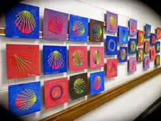 string art with elementary kids