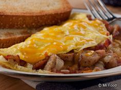 Get your day off to an energizing start with our Lumberjack Omelet. With its trio of ingredients sure to have you going hog wild over, this tasty breakfast guarantees you'll make it through your busy day.