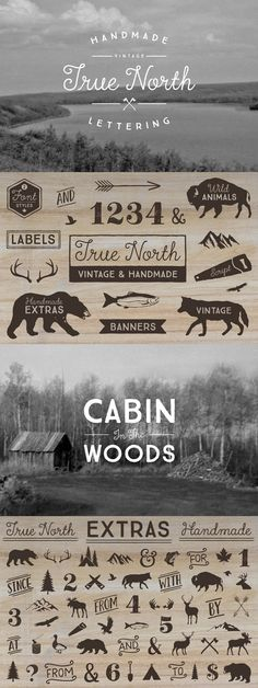 True North is a handmade vintage inspired font and monoline script that comes with wonderful illustrations.