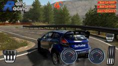 Play screen of rally racing game