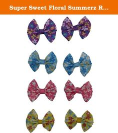 Super Sweet Floral Summerz Ribbon Tiny Hair Bows Alligator Clips For Teens/ Baby Girls and Toddlers Kids (Pack of 8). Summerz Ribbon Tiny Boutique Hair Bows Alligator Clips For Teens/ Baby Girls and Toddlers Kids are High Quality Product.It is Great Variety of Sweet Colors to Match your Outfit,and it is Good for pony tails or pig tails.Easy Way to Make your Little Cute Daughter Look even More Cute!!.