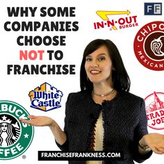Do you ever wonder why some companies choose not to Franchise? Check out our latest blog post to learn why.  http://franchisefrankness.com/companiesthatdontfranchise/