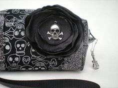 Black Skull Purse Gothic Handbag by VelvetBitchOriginals on Etsy, $32.00