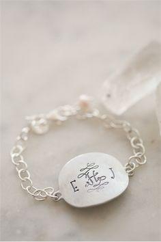 timeless monogram bracelet {pewter} | Lisa Leonard Designs