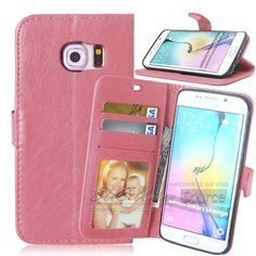 Magnetic 2 in 1 Wallet PU Leather Case for Samsung Galaxy S6 Edge Cover Flip Case with Card Slot + PhotoFrame Coque for S 6 Edge