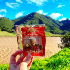 """Have you ever wondered what """"Pacha"""" means?  Pacha is Peruvian for """"Earth"""". Our Pacha Protein is an easily digestible highly potent blend of the best quality superfoods on Earth. Packed full of plant protein Gaia Greens and adaptogens. Our sample packs are great for those on-the-go whether at work during travel or for impromptu nature hikes like this.  Wishing you a wonderful Wednesday! Connect with the Earth in some small way today.     #sarvaasuperfood #loveyourbodyloveeverybody #superfood…"""