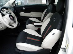 2012 FIAT 500cc by Gucci.  The seats have the signature Gucci stripes.  I rented one of these cars and i loved it.  It's very very cute!