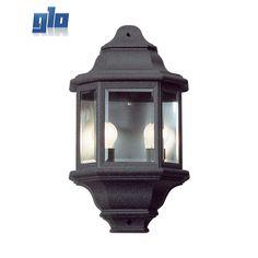 Radiant LS220 Wall Light 240v - half lantern 5 panel large - outdoor (Multiple Colours/Finishes)