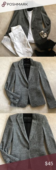 Zara blazer Grey speckled blazer. Material: 54% wool, 46% cotton. Zara Jackets & Coats Blazers