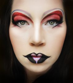Queen of Hearts - might do this for character makeup in Stage Makeup class...