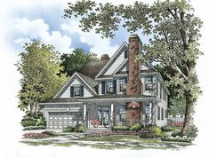 Eplans New American House Plan - Unique Exterior - 2970 Square Feet and 4 Bedrooms from Eplans - House Plan Code HWEPL58623