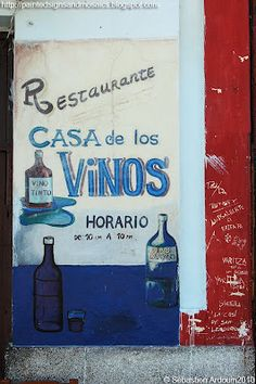 Casa de los Vinos, Havana  A simple restaurant, the Casa de los Vinos serves not only red and white wines, as the name and the sign painted by the entrance indicate, but also Spanish dishes.