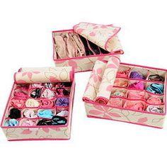 Cute Bra Underwear Sock Clothes Accessories Organizing Storage Pouch Box bag UER