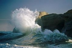 """Waves at Cape Kiwanda""  #SunKuWriter #Portugal   http://sunkuwriter.com                 New Site"