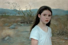 Aine, Death Valley (oil, 20×30) is a modern-day portrait of O'Hagan's daughter during a camping trip in Death Valley. A detail of the painting was used for the April 2013 cover of The Artist's Magazine. #FineArt