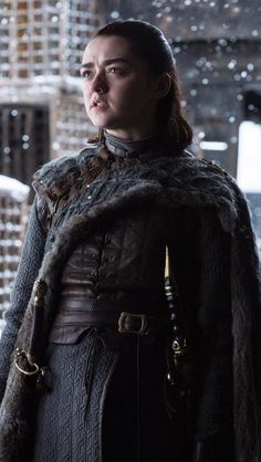 Game of Thrones :Arya Stark Game Of Thrones Episodes, Game Of Thrones Arya, Game Of Thrones Facts, Game Of Thrones Quotes, Game Of Thrones Funny, Winter Is Here, Winter Is Coming, Game Of Trone, Game Of Thrones Instagram