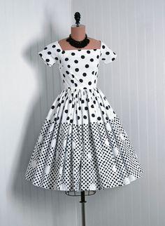 Sun Dress, Madeleine Fauth: 1950's, American, polka-dot printed lightweight cotton.