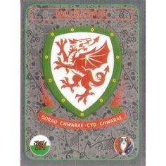 126 - Badge - Wales / Cymru - UEFA Euro 2016 France - Panini